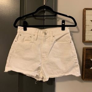 White Madewell Cutoff Shorts, Size 27